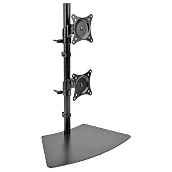 Amazon Com Ezm Vertical Dual Lcd Monitor Mount Stand