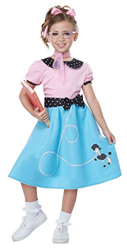 50'S Sock Hop Dress Child Costume
