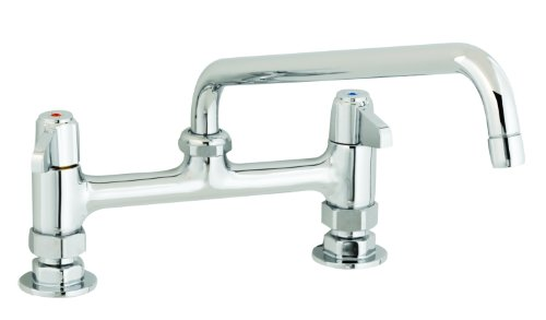 T&S Brass 5F-8DLX10 Deck Mount Faucet with 8-Inch Centers and 10 ...