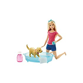 Barbie Splish Splash Pup Playset