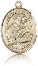 14 ktゴールドSt Anthony of Padua Medal