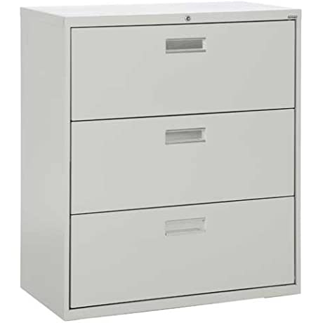 Sandusky Lee LF6A363 05 600 Series 3 Drawer Lateral File Cabinet 19 25 Depth X 40 875 Height X 36 Width Dove Gray