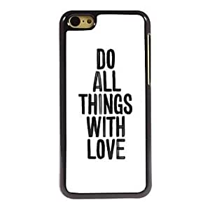 QJM Cool Saying Design Aluminum Hard Case for iPhone 5C