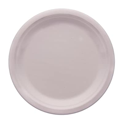 "eco Kloud 9"" inch Bagasse Sugarcane Fiber Plate (Pack of 500)"