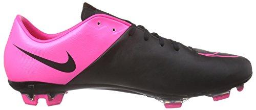 Nike Mercurial Veloce Ii Leather Fg - Botas de fútbol Hombre Negro / Fucsia