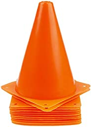 KOYEE 12 Pack Orange Traffic Cones,7 Inch Safety Traffic Cones Soccer Sports Training Cones for Outdoor Activi