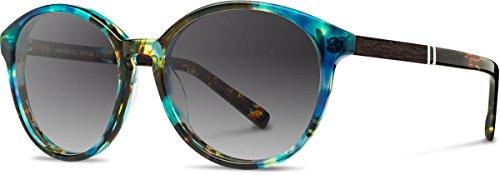 Shwood - Bailey Acetate, Sustainability Meets Style, Blue Opal/Ebony, Grey Fade Polarized - Bailey Eyewear
