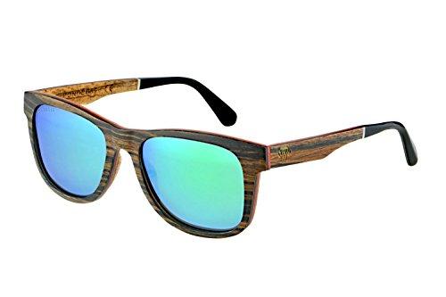 Polarizadas de Sol de Bonoboss y Zebrano Madera Gafas LE003 Unisex de Maple HB4xnIx