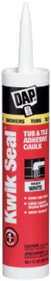 Dap 18032 10.1-oz. Kwik Seal Tub/Tile Caulk - Quantity 12