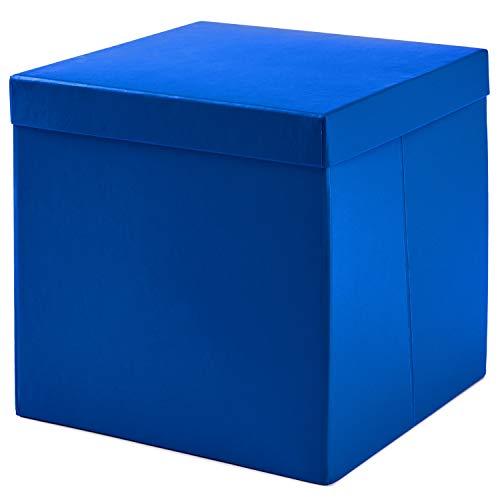 Hallmark Large Gift Box with Lid for Birthdays, Bridal Showers, Weddings, Baby Showers and More (Royal Blue)