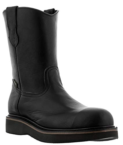 Toe Sole Construction Mens Presidente Steel Black Rubber Boots Work El Leather tUnHqxHP