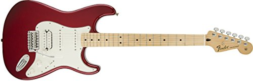 (Fender Standard Stratocaster Electric Guitar - HSS - Maple Fingerboard, Candy Apple Red)