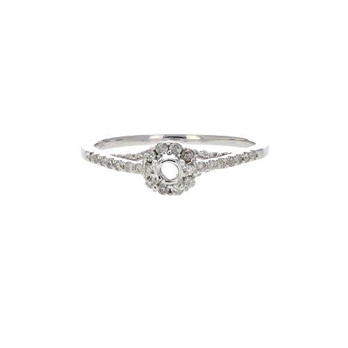 (1/4 CT Diamond Semi Mount Engagement Ring 14K White Gold Size 7)