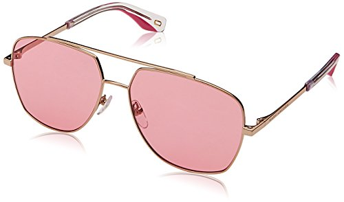 - Marc Jacobs Women's Aviator Sunglasses, Gold Pink/Red, One Size