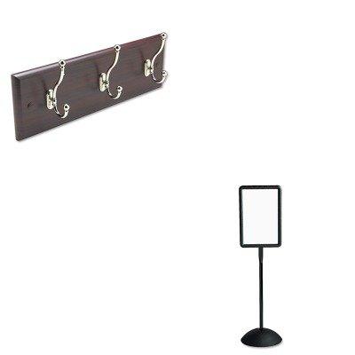 KITSAF4117BLSAF4216MH - Value Kit - Safco Wall Rack (SAF4216MH) and Safco Double Sided Sign (SAF4117BL)