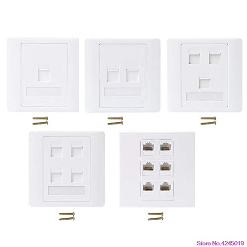 Ants-Store - New 86 Type Computer Socket Panel CAT5E Network Module RJ45 Cable Interface Outlet