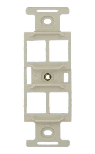 Leviton 41087-QTP QuickPort Duplex Type 106 Insert, 4-Port, Light Almond ()