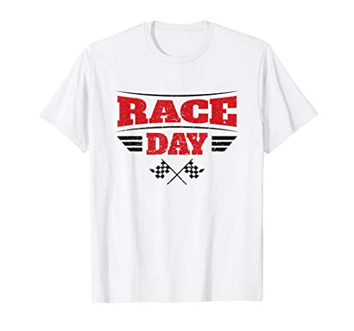 - Race Day T-Shirt - Checkered Flags
