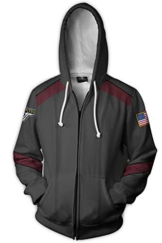 Mens Print Hoodie Costume Adult Sweatshirt Hooded Jacket,XLarge -
