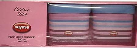 Nayasa Superplast Fusion DLX Plastic Container Set, 750 ml, Set of 3, Pink (SKU-NAYASA-4)