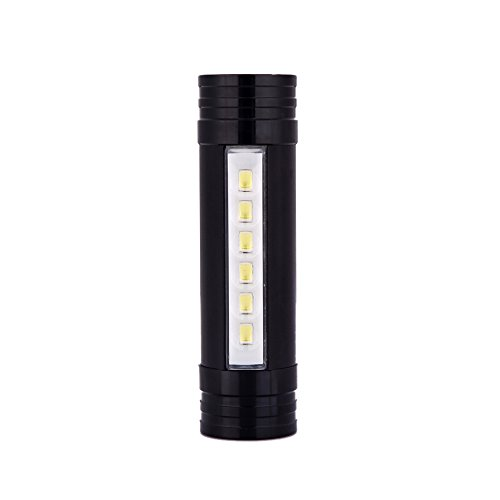 6Leds 1000LM 4-Mode Mini LED Flashlight Torch Headlamp Black Led torch Portable Power Bank Light Headlight