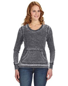 J. America womens Zen Thermal Long-Sleeve T-Shirt(JA8255)-DARK (Nylon Notch Collar Knit Jacket)
