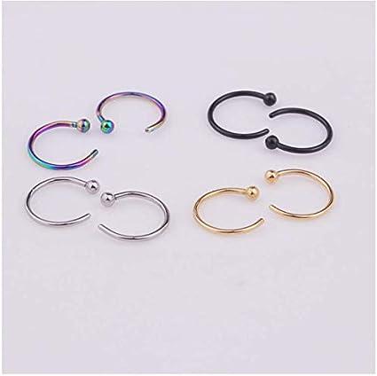 Amazon Com Yayayouyou Stainless Steel Semi Circular Nose Ring