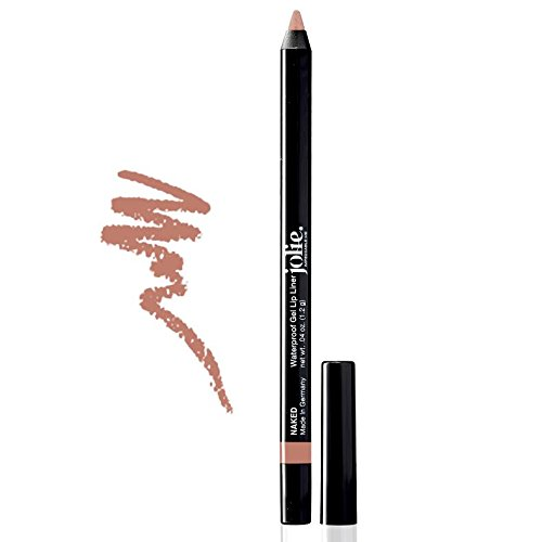 Jolie Cosmetics Waterproof Gel Lip Liner – Super Smooth, Extra Long-Wear (Naked)