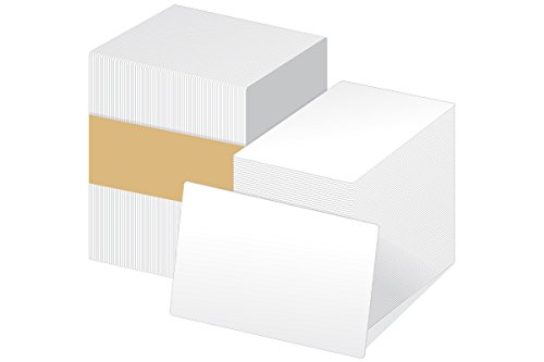 CR80 30 Mil Blank White PVC Cards, 16-Inch x 2-Inch, 500 Pack