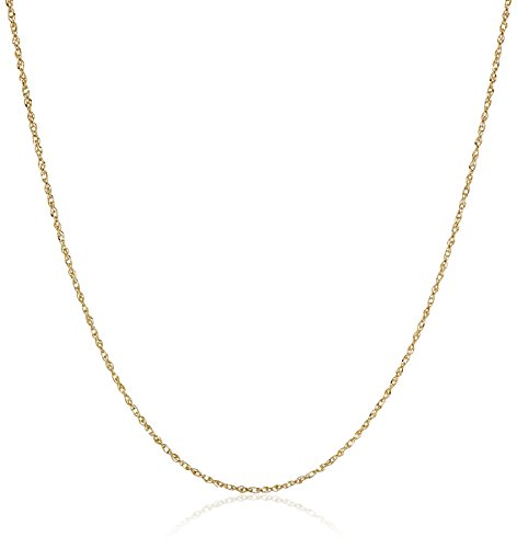 14k Yellow Gold Solid Perfectina Chain Necklace (1.0mm), 18'' by Amazon Collection