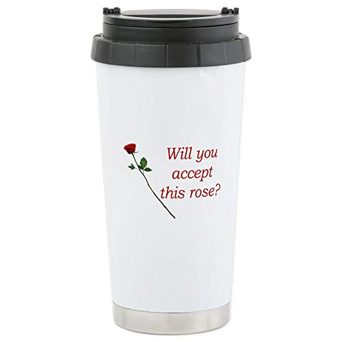 CafePress Will You Accept This Rose? Stainless Steel Travel Stainless Steel Travel Mug, Insulated 16 oz. Coffee -