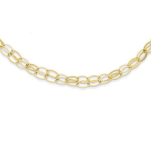 ICE CARATS 14kt Yellow Gold Double Strand Oval Links 2 Inch Extension Chain Necklace Pendant Charm Fancy Fine Jewelry Ideal Gifts For Women Gift Set From Heart 14kt Gold Double Link Necklace