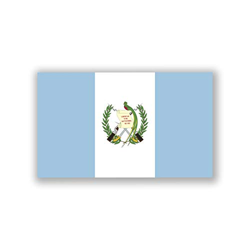 2-Pack Guatemala Flag Decal Sticker | 5-Inches by 3-Inches | Premium Quality Vinyl | PD438