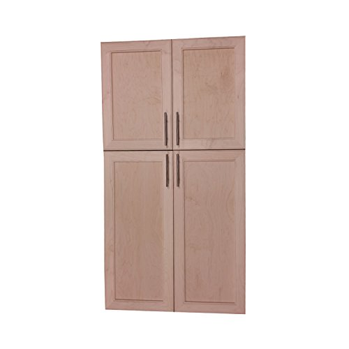 Bath Curio Cabinet (Wood Cabinets Direct MAX-BP-648-4DRP-18/30 Maxwell on the Wall Four Door Frameless 18/30 Pantry Cabinet, 48