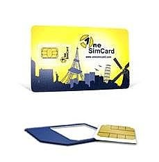 OneSimCard Prepaid International 3-in-one SIM Card for Over 200 Countries with $10 Credit - Voice, Text and Mobile Data as Low as $0.01 per MB. Compatible with All Unlocked GSM Phones by OneSimCard
