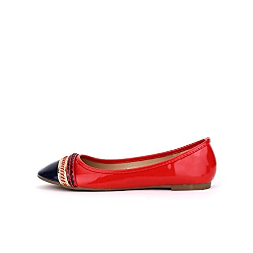 Cendriyon Ballerine Vernie Rouge Lady Chaussures Femme