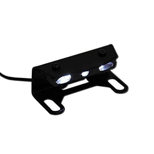IBEX Pro 10005110 License Plate Holder Number Plate Holder//Mounting Plate Including Number Plate Light and Rear Reflector
