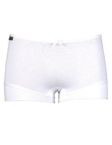 RJ Traditional Bodywear 31-018 Women's The Good Life White Lyocell Cotton Knicker Shorties Boyshort