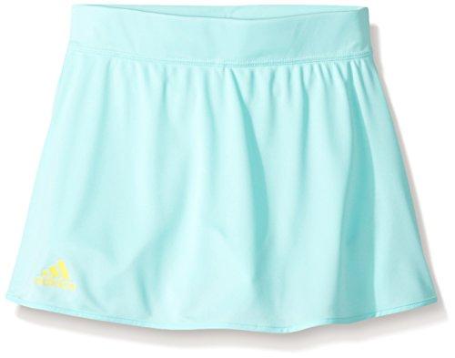 adidas Girls Tennis Club Skirt, Energy Aqua/Bright Yellow, Small