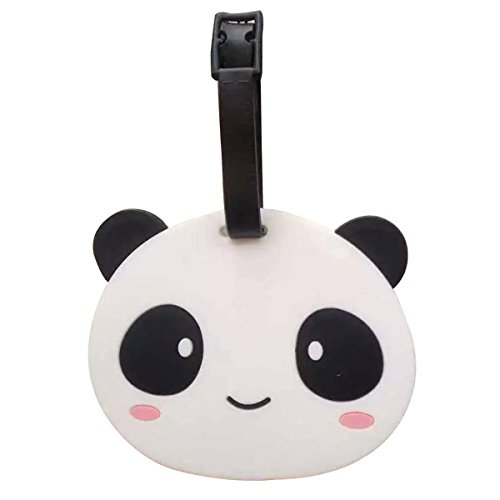 Quick Easy Costumes For Teenage Girls (bouti1583 Silicone Cute Panda Accessories Animal Luggage Tag Loops Holders)
