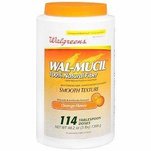Walgreens Wal-Mucil 100% Natural Psyllium Seed Husk Bulk Forming Fiber Supplement Powder, 48.2 oz