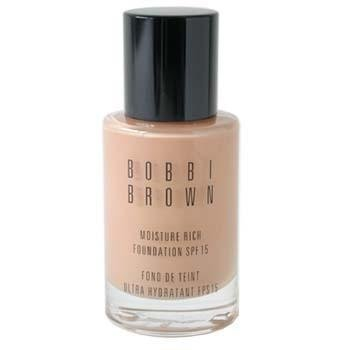 Bobbi Brown Moisture Rich Foundation SPF15, No. 3 Beige, 1 Ounce