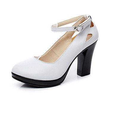 Chaussures Printemps cm Décontracté LvYuan Chaussures ggx white amp; Similicuir à Femme Talon Blanc Talons Noir12 Chaussures Gros formelles formelles Automne SvxPwT8vqr