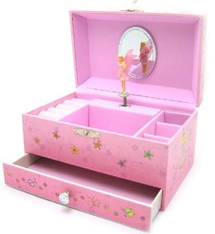 Childrens Girls Pink Musical Jewellery Box with Fairy Amazoncouk