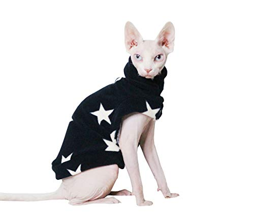 (Khemn LUXURY丨HANDMADE丨 Cloud Fashion Cat Warm Clothes Cat Sweater-Best for Hairless Cat (S))