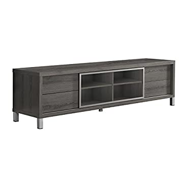 Monarch Specialties I 2536, TV Console, Euro Style, Dark Taupe, 70