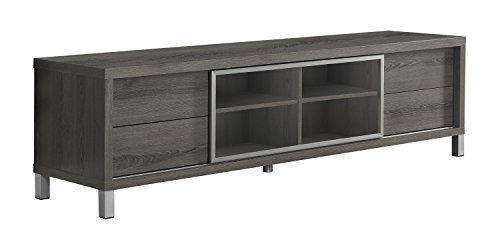 31zD8AdWE8L - Monarch Specialties I 2536, TV Console, Euro Style, Dark Taupe, 70""