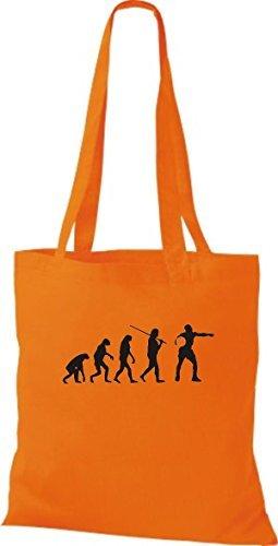 Borsa Di Panno Shirtinstyle Delle Cotone Arancione Donne XnfgOHgx5