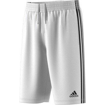 adidas Men's Basketball Basic 4 Shorts, White/Black, Large