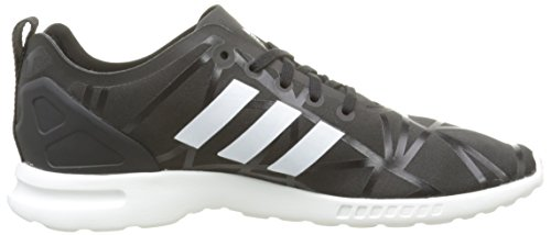 core Basses Baskets Black core Smooth Noir Zx Flux Femme White Adidas xSq0OIP
